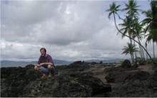 Craig hard at work on the Osa Peninsula, Costa Rica.