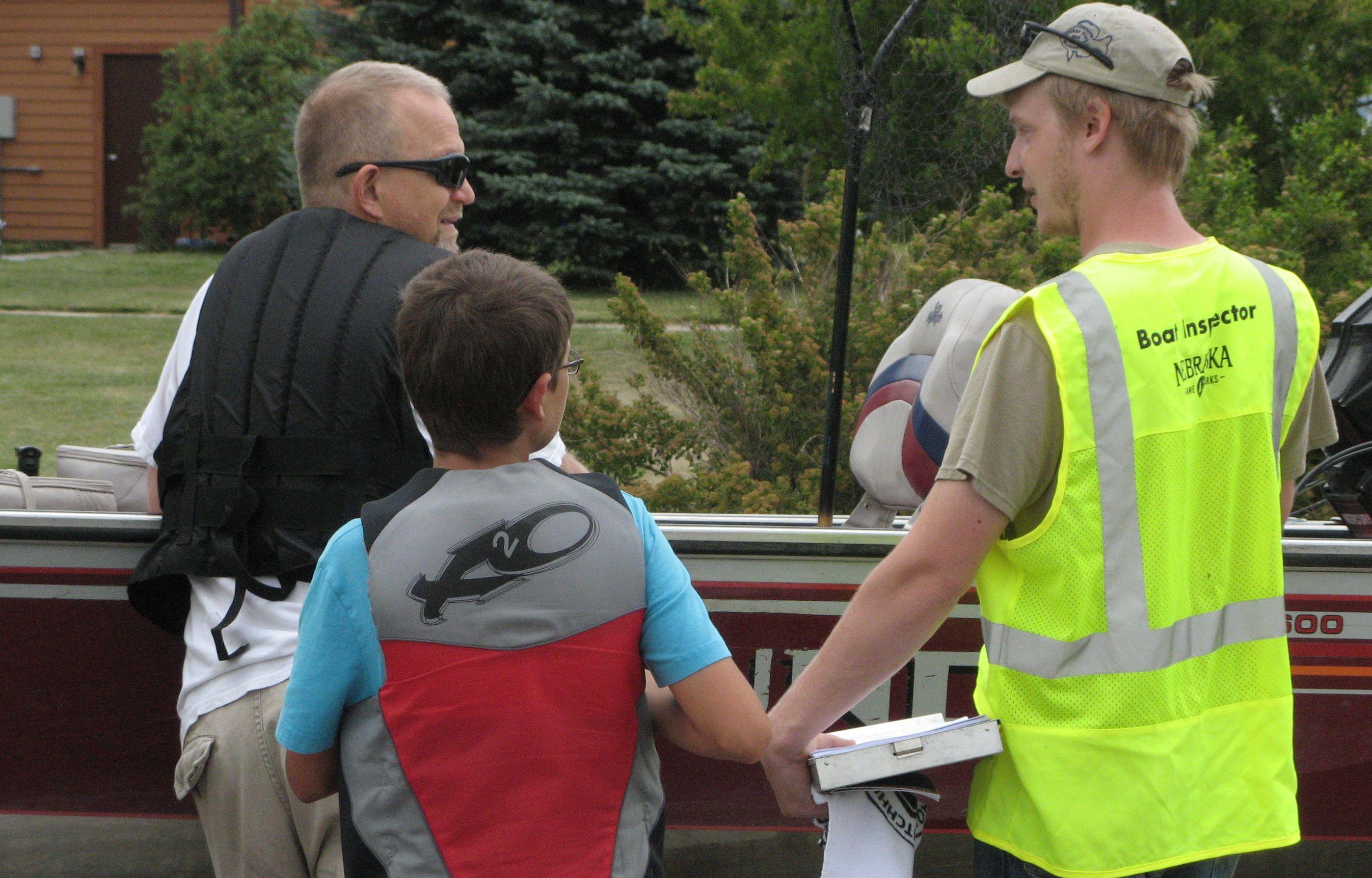 Boat Inspection. Photo: Nebraska Game and Parks Commission