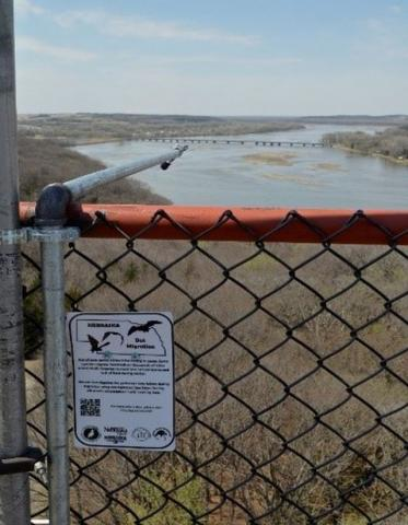 Acoustic detector by the Missouri River, Nebraska. Photo: Zac Warren