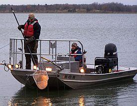 Catching walleye with an electro-fisher