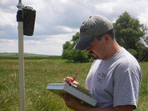 Stationary detectors were placed to record habitat characteristics.